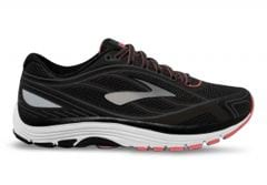 BROOKS DYAD 9 (D) WOMENS BLACK WHITE CORAL