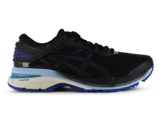 ASICS GEL-KAYANO 25 WOMENS BLACK ASICS BLUE