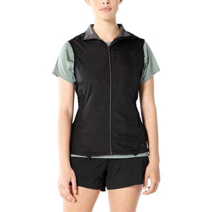 ICEBREAKER RUSH VEST WOMENS BLACK
