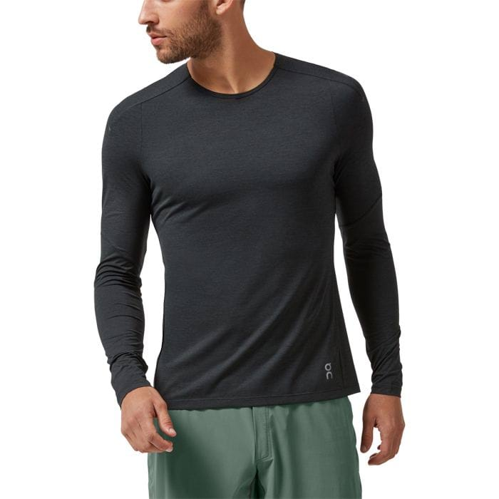 ON RUNNING PERFORMANCE LONG TEE BLACK SHADOW