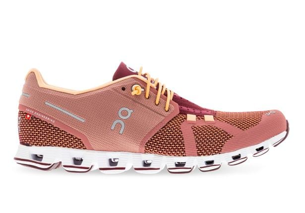 ON RUNNING CLOUD WOMENS DUSTROSE  MULBERRY