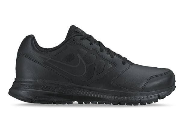 NIKE DOWNSHIFTER 6 LEATHER GS KIDS BLACK SILVER