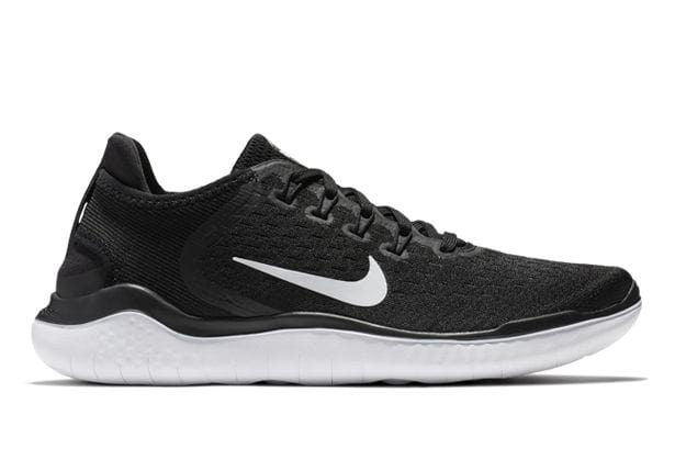 NIKE FREE RN 2018 MENS BLACK WHITE