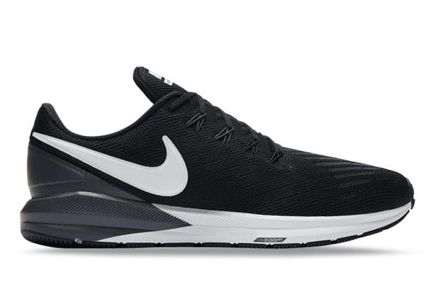 NIKE AIR ZOOM STRUCTURE 22 MENS BLACK