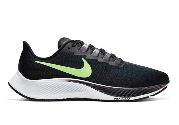 NIKE AIR ZOOM PEGASUS 37 MENS BLACK GHOST GREEN-VALERIAN BLUE