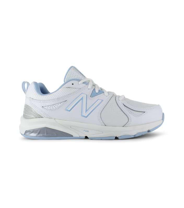 NEW BALANCE 857 V2 (2E) WOMENS WHITE BLUE