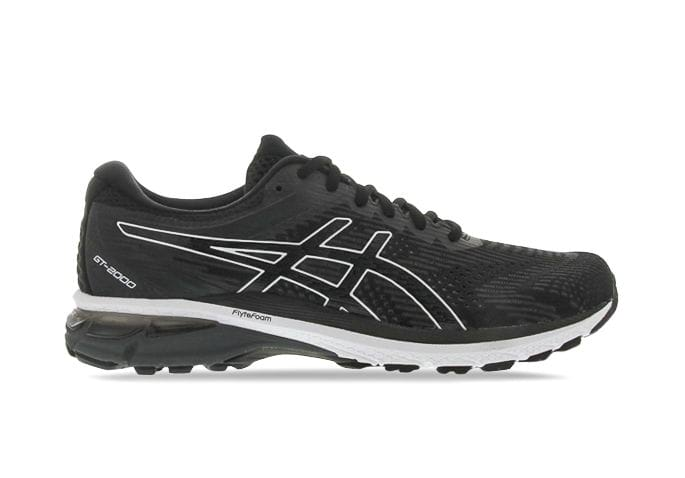 ASICS GT-2000 8 MENS BLACK WHITE