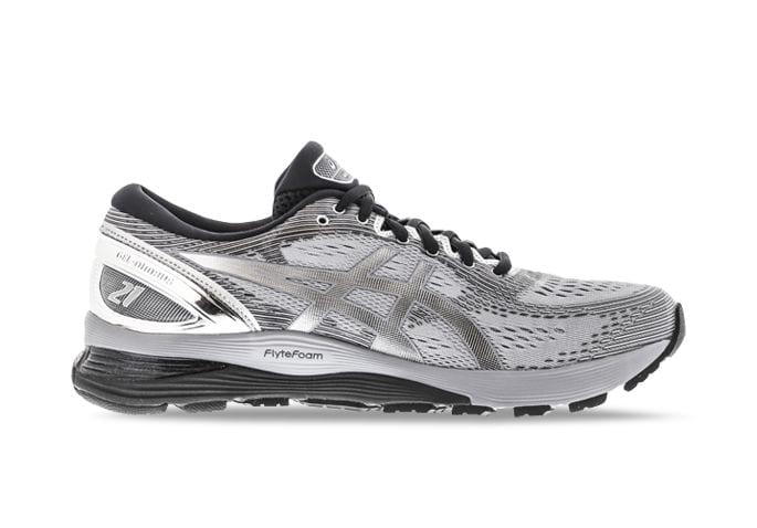 ASICS GEL-NIMBUS 21 PLATINUM MENS SHEET ROCK SILVER
