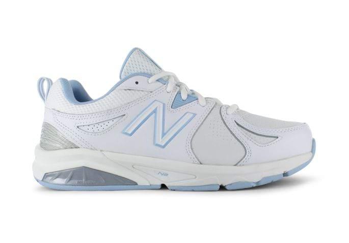 NEW BALANCE WX857WB V2 (2E) WOMENS WHITE BLUE
