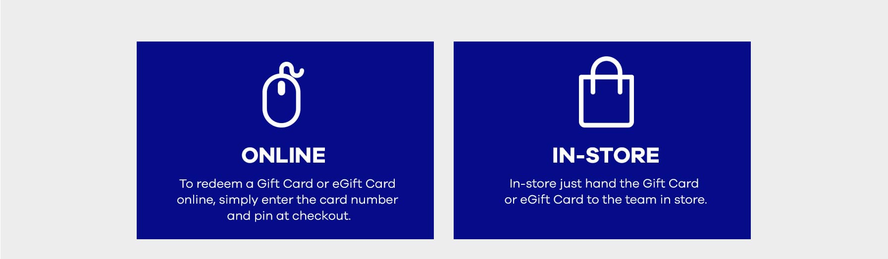 How to use your gift card