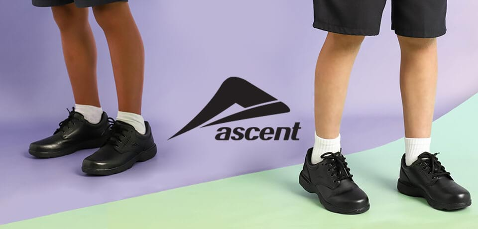 Ascent School shoe range