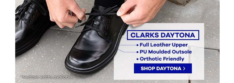 Clarks Daytona Black Junior School Shoe | The Athlete's Foot