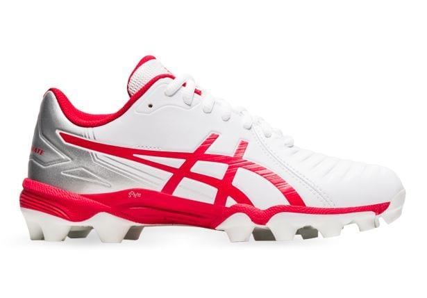 White Red ASICS Football Boot