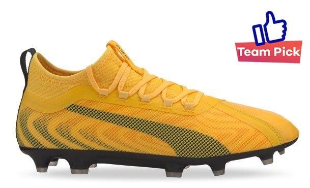 Yellow Puma Football Boot